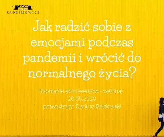 """Zlot Absolwentów """"Radzimowic"""" – 20.6.20"""